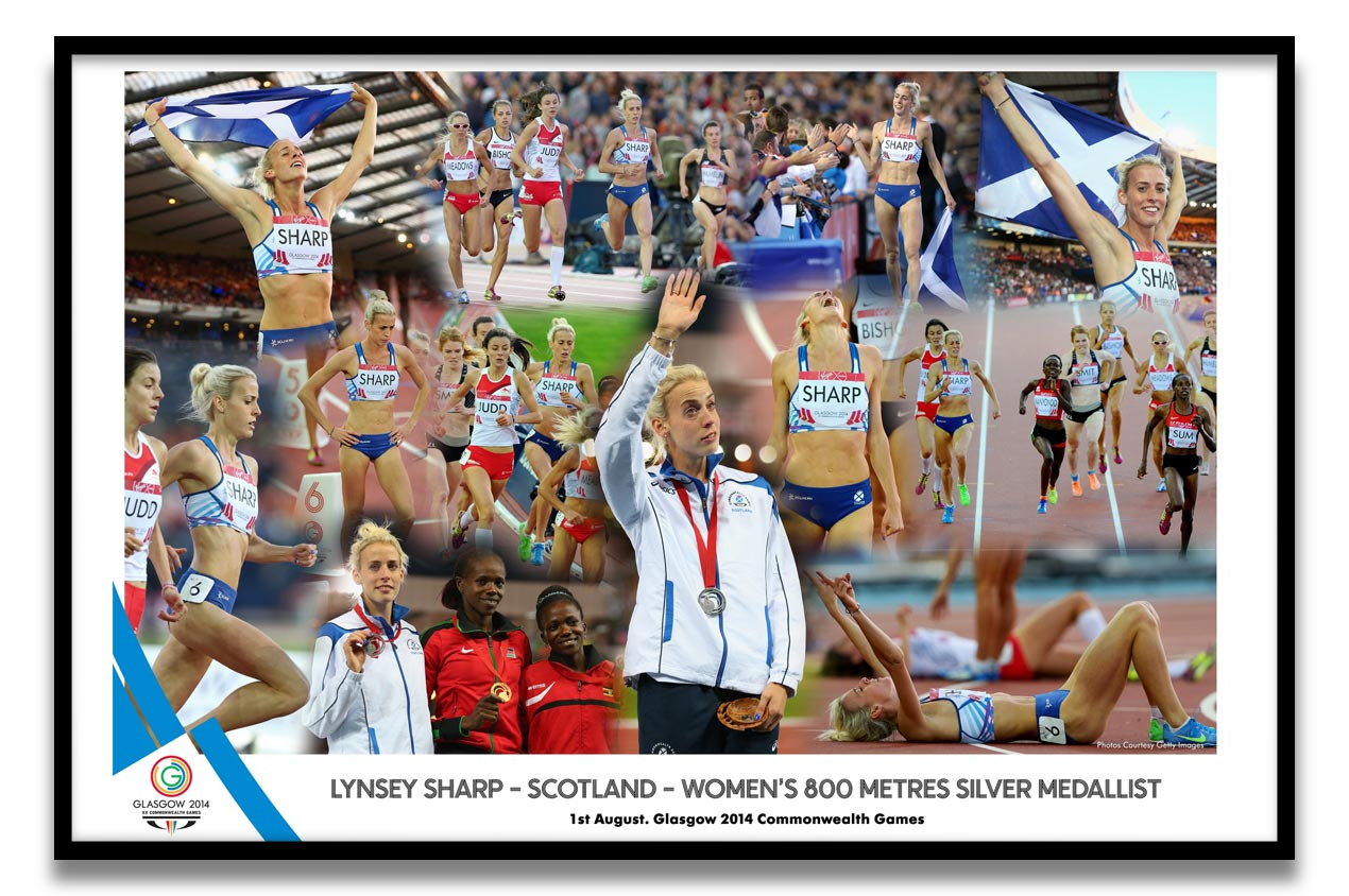 Lynsey Sharp at the Glasgow 2014 Commonwealth Games